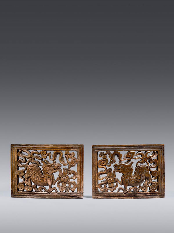 Pair of horn plaques