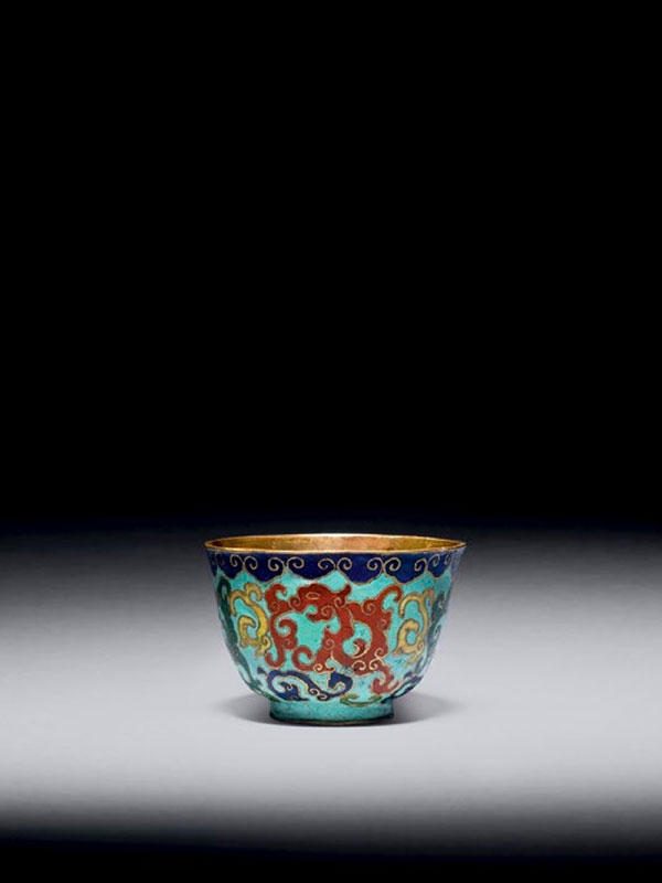 Cloisonné enamel cup