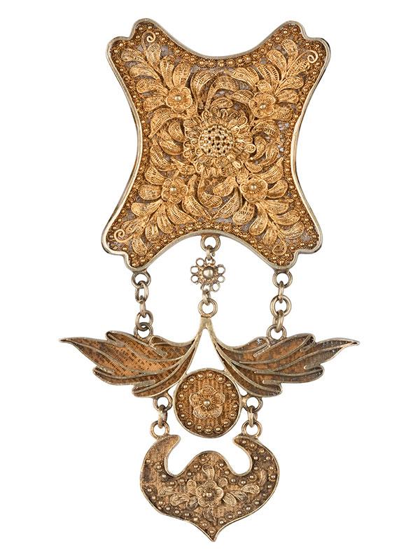 Silver gilt wedding necklace