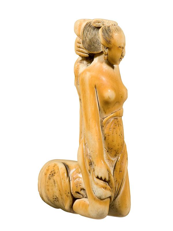 Ivory cane handle