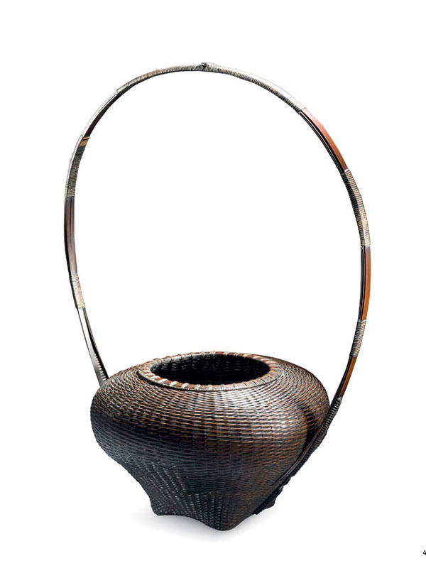 Bamboo Flower Basket by Noguchi Ushu (1947-)