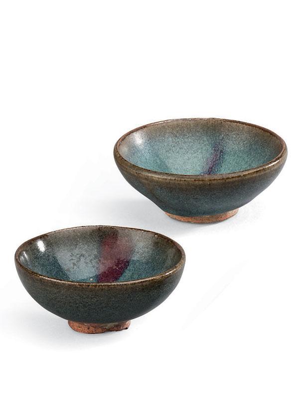Two <em>Jun</em> stoneware bowls