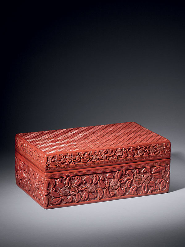 Lacquer box with lychee decoration