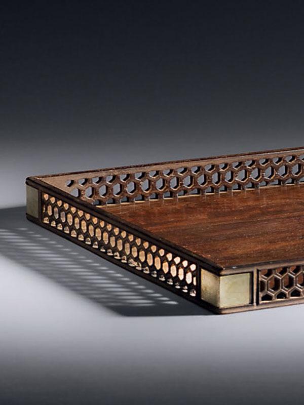 Zitan stationery tray