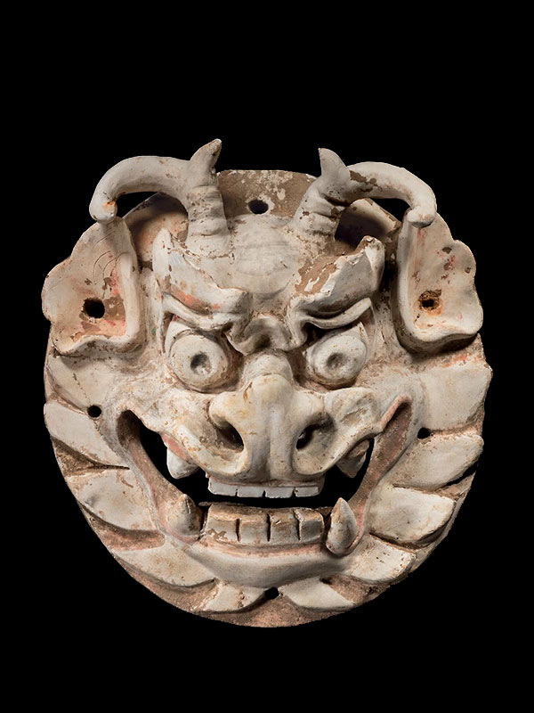 Pottery monster mask