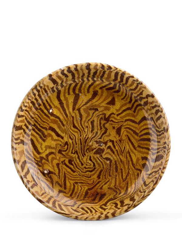Pottery marbled dish
