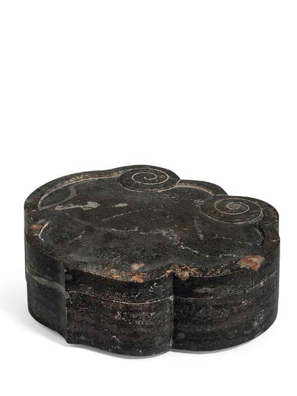 Stone box of ruyi head form