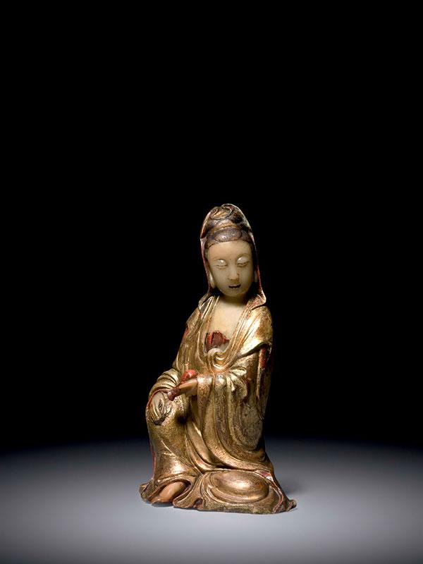 Soapstone figure of Guanyin