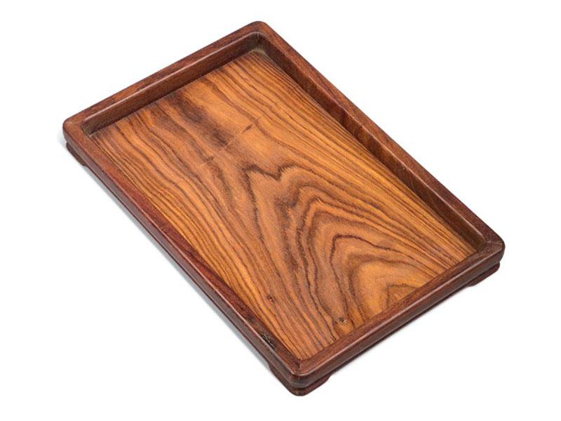 Three huanghuali trays