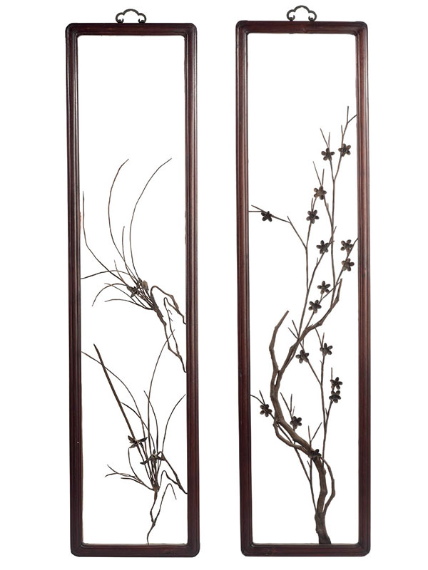 Four iron paintings, tiehua