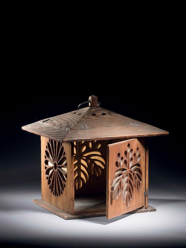 Cedar wood (jindai sugi) lantern