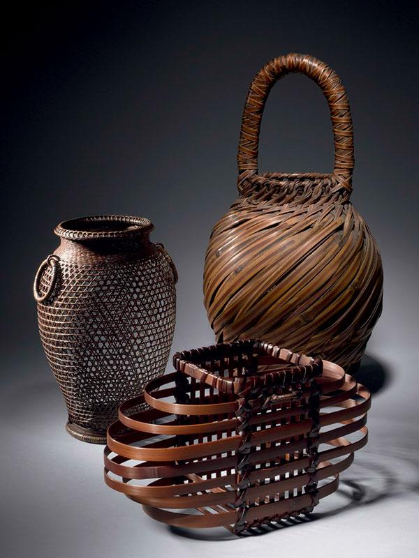 Bamboo ikebana baskets