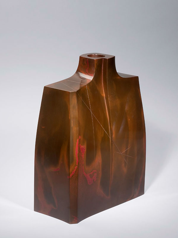 Bronze vase by Hasudo Shugoro