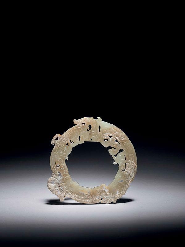 Circular disc huan, with dragons