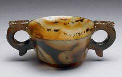 Burnt jade cup
