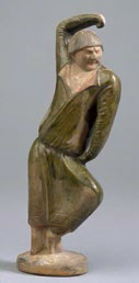Fig1. Pottery foreign male dancer, Royal Ontario Museum, Toronto