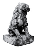 Fig. 1 White marble lion, Metropolitan Museum of Art