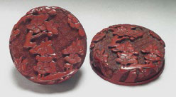 Fig. 1 Lacquer circular box with plum blossoms, National Palace Museum, Taipei.
