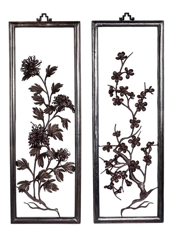 Three iron paintings, tiehua