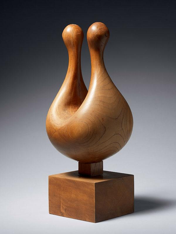 Wood sculpture 'Sky' by Nakamura Junko