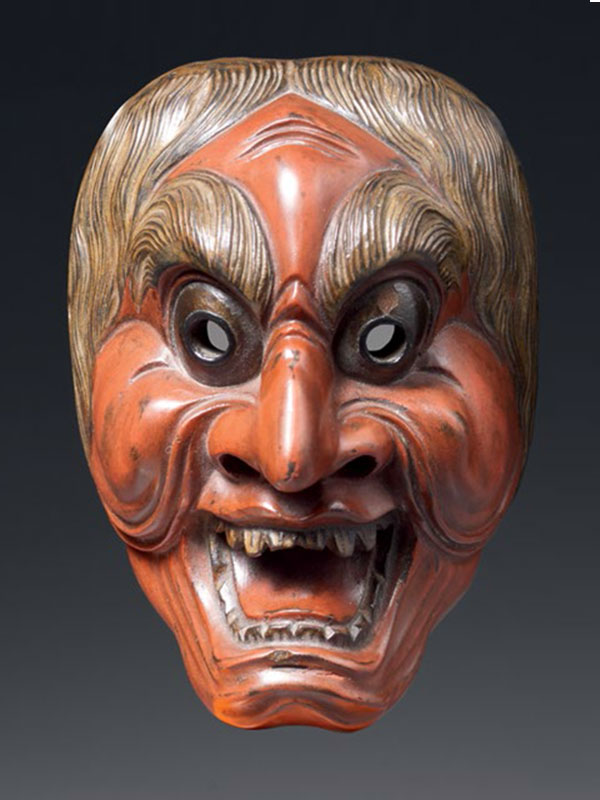 Model of Noh mask of an old man