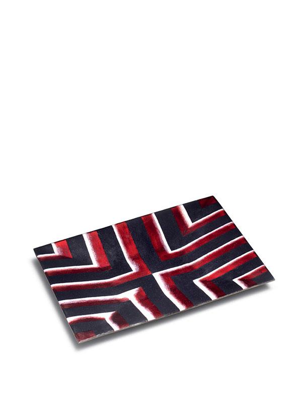 Cloisonné enamel rectangular tray