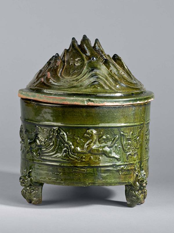 Pottery tripod incense burner