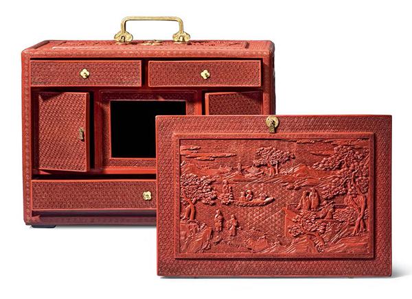 Lacquer portable cabinet