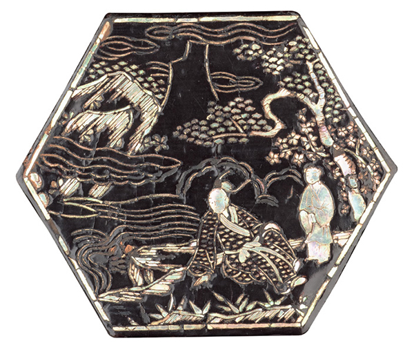 Mother-of-pearl inlaid lacquer box