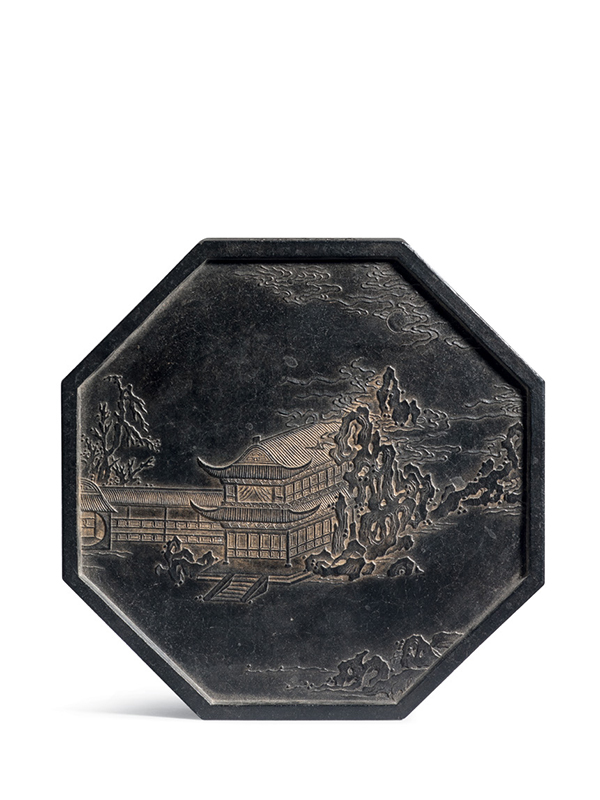 Ink tablet of octagonal form