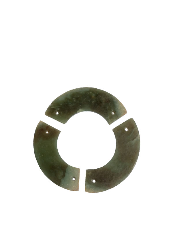 Set of three arc-shaped huang pendants