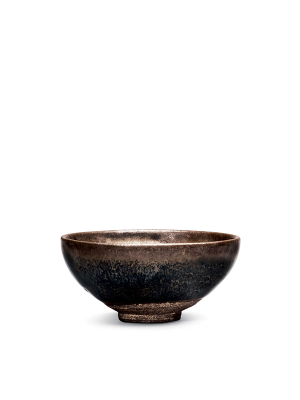 Jian stoneware bowl with 'hare's fur' glaze