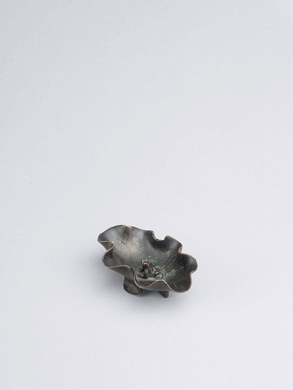 Bronze brush washer of leaf shape