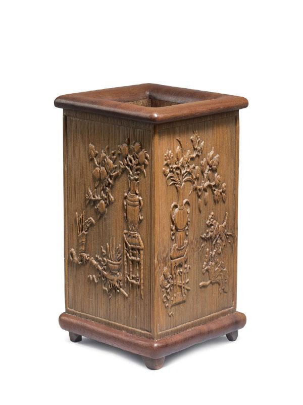 Bamboo brushpot