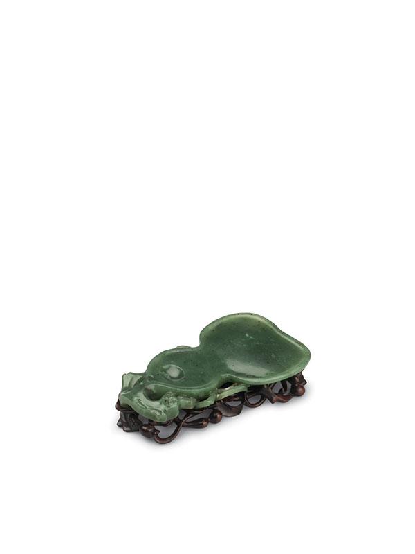 Jade ink grinding stone of gourd shape