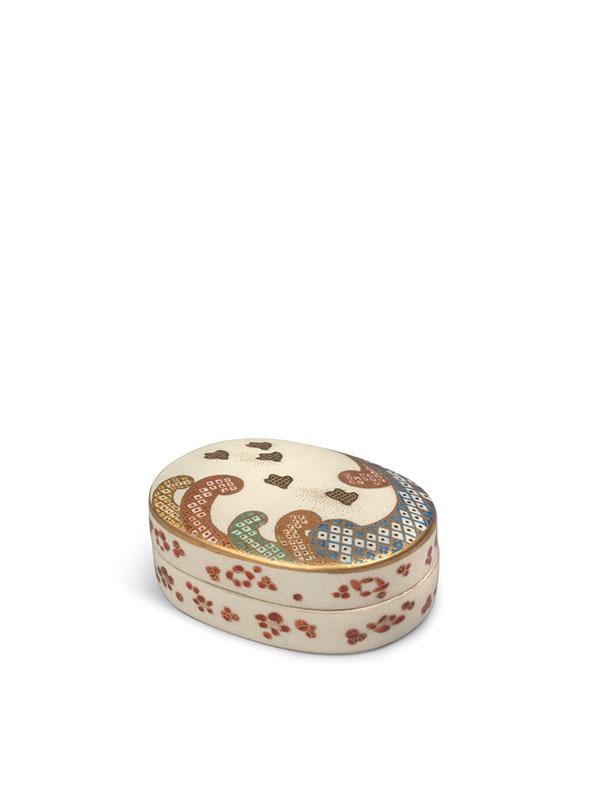 Satsuma earthenware box