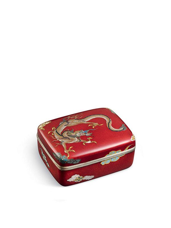 Cloisonné enamel box