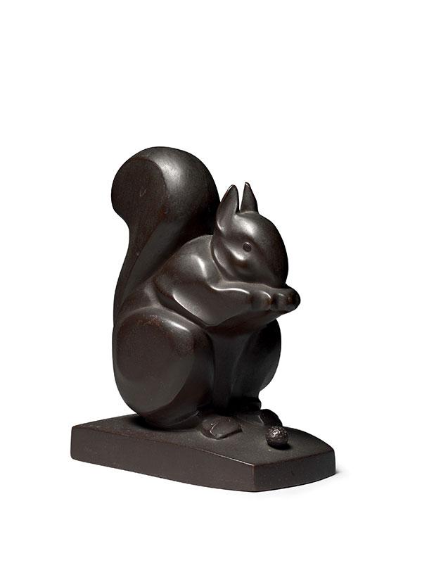 Bronze model of a squirrel