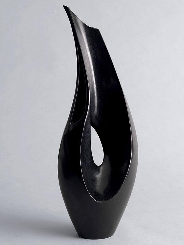 Bronze vase of tear-drop shape