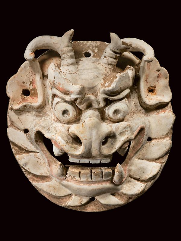 Pottery monster masks