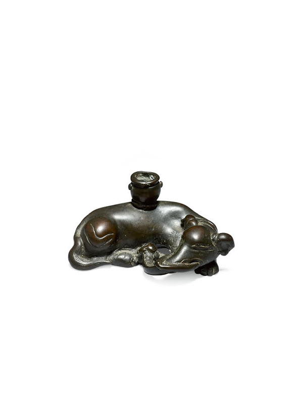 Bronze incense stick holder in the form of an elephant