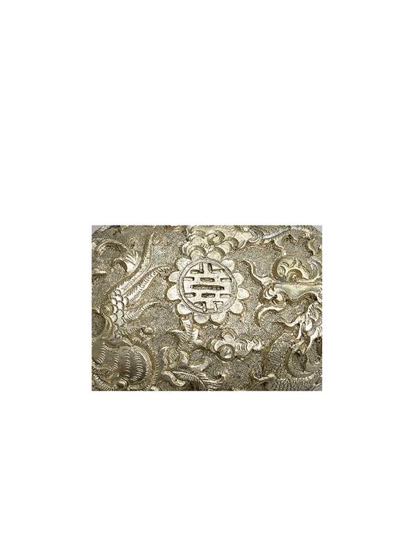 Repoussé silver box