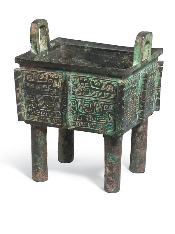 Bronze ritual vessel of fangding form