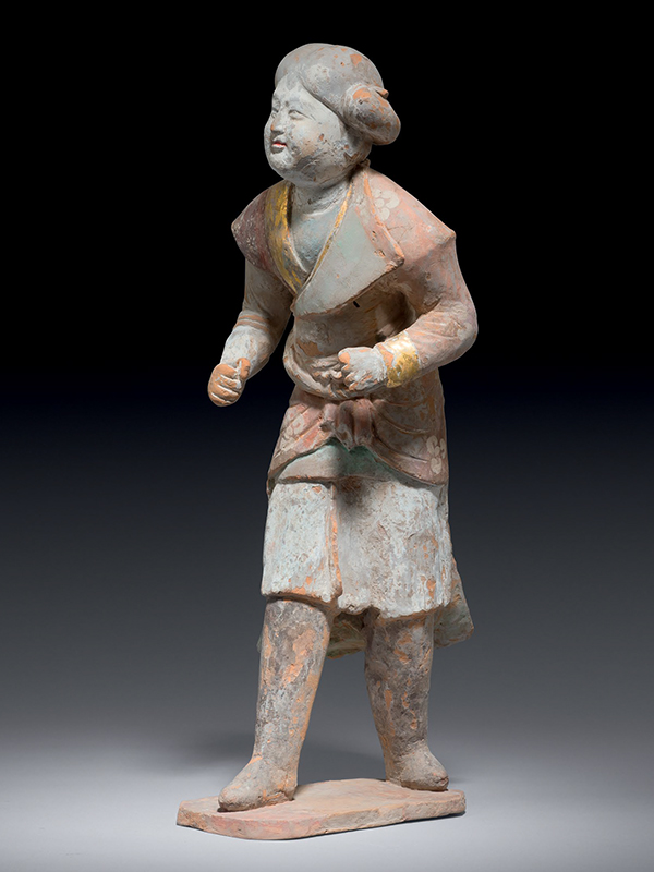 Pottery figure of a groom in foreign dress