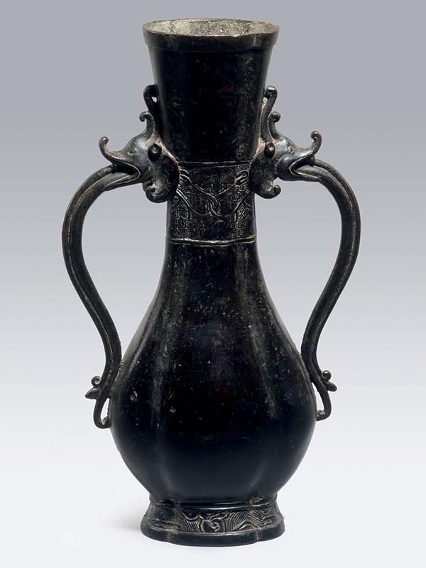 Bronze two-handled vase