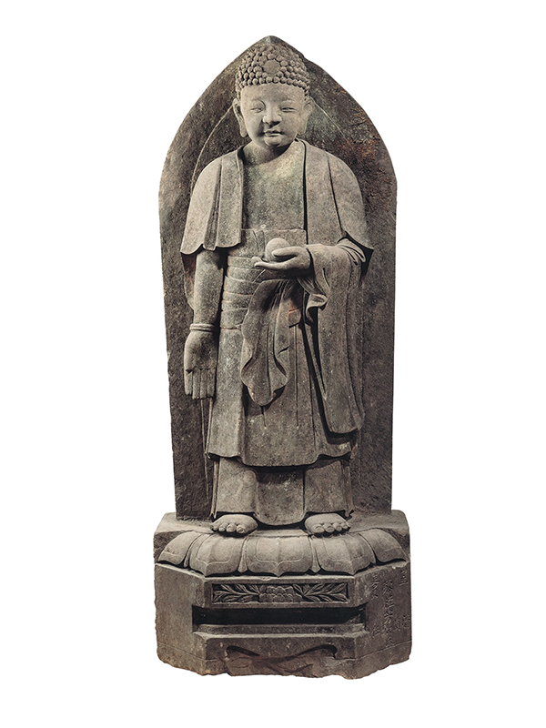 Documented and dated stone figure of Buddha