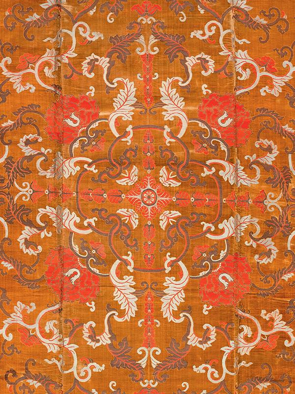 Imperial silk and velvet dais cover