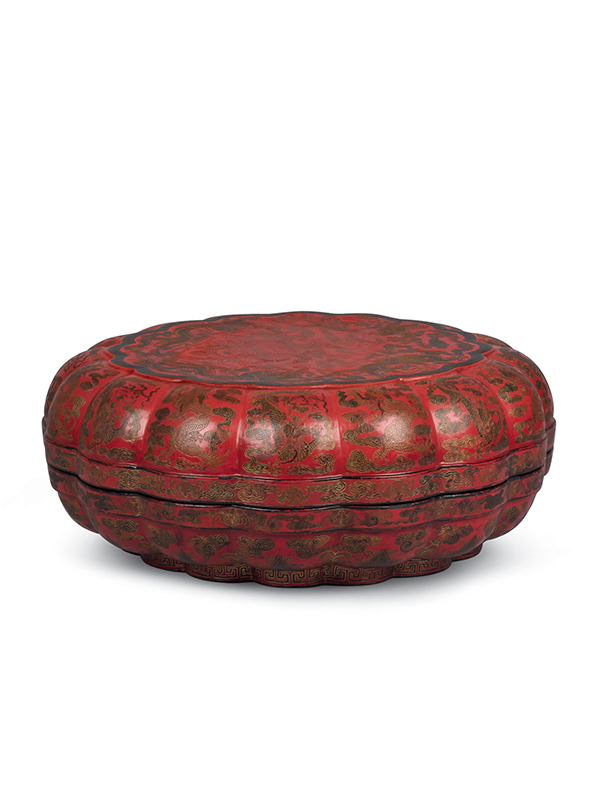 Lacquer box decorated in qiangjin and tianqi techniques