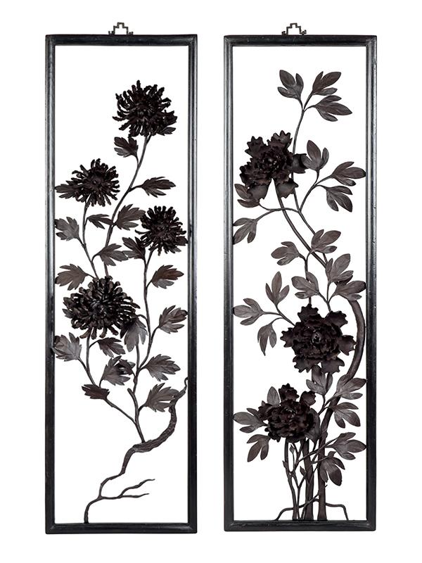 """Two iron """"paintings"""", tiehua"""