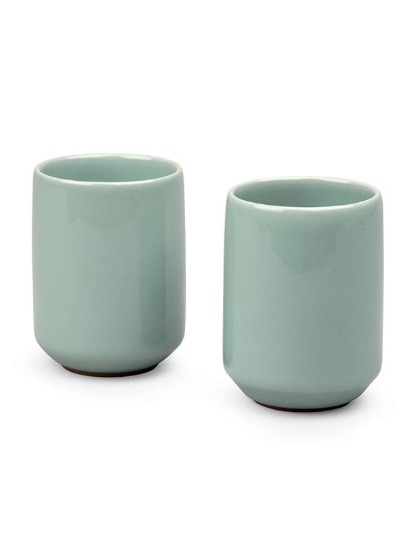 Two celadon porcelain cups